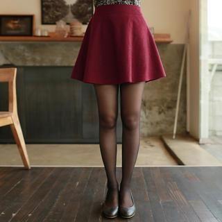 Wool Blend A-Line Mini Skirt