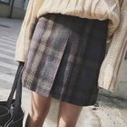 Plaid Mini Skirt 1596