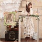 Lace-Panel Maxi Skirt 1596