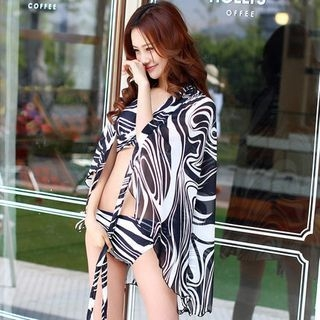 Set: Print Bikini + Cover 1052705931