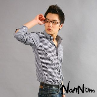 Picture of NanNom Check Dress Shirt 1022480632 (NanNom, Mens Shirts, Korea)