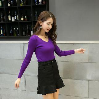 Ruffle Hem Mini Skirt 1057588664