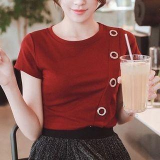 Ribbed Short-Sleeve T-shirt 1060253991