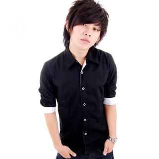 Picture of SLOWTOWN 3/4-Sleeve Contrast-Trim Shirt 1023009099 (SLOWTOWN, Mens Shirts, China)