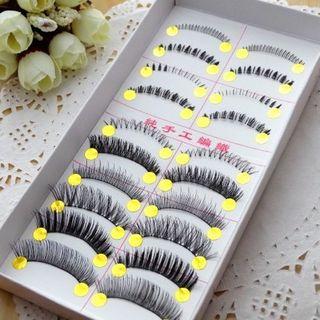 Image of 10 Pairs Set: Upper False Eyelashes + Lower False Eyelashes