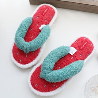 Image of Chenille Watermelon Home Flip-flops