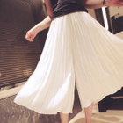 Cropped Wide Leg Pleated Pants 1596