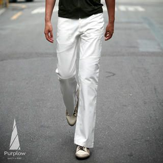Picture of Purplow Asymmetric Stitched Pants 1004802252 (Purplow, Mens Denim, Korea)