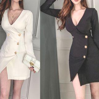 Long-sleeve | V-neck | Dress | Mini