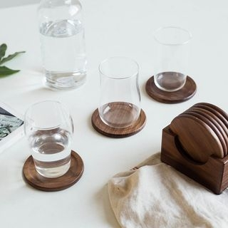 Set of 6: Wooden Cup Mat 1061105197