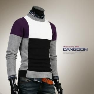 Buy DANGOON Color-Block Knit Sweater 1021882555