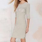 Elbow-Sleeve Fringed Sheath Dress 1596