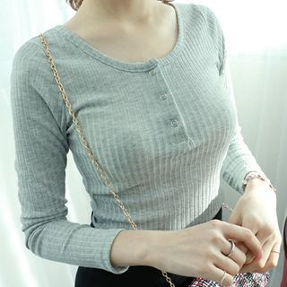 Ribbed Henley 1048765264