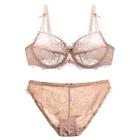Set: Sheer Lace Bra + Panties 1596