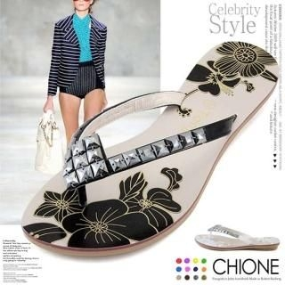 Buy Chione Pyramid-Stud Thong Sandals 1022810524