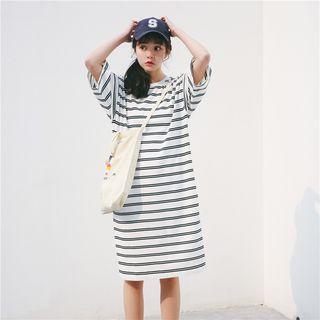 T-Shirt   Stripe   Sleeve   Dress
