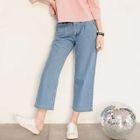 Wide Leg Cropped Jeans 1596