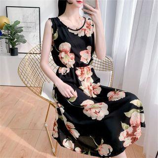 Sleeveless | Chiffon | Floral | Dress | Print