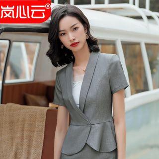 Short-sleeve | Camisole | Blazer | V-neck | Skirt | Set | Top