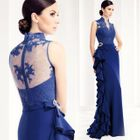Lace Panel Sleeveless Ruffle Sheath Evening Gown от YesStyle.com INT
