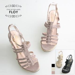 Buy FLOY SHOES Braided-Strap Wedge Sandals 1023053860