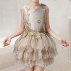 Kids Sleeveless Tulle Dress 1596