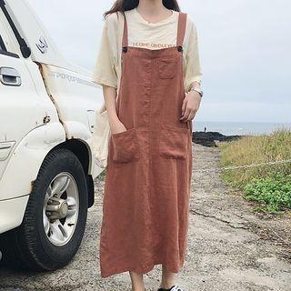 Midi Pinafore Dress 1067415898