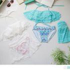 Set: Print Bikini + Lace Bra Top 1596