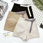 Plain Wide-Leg Shorts 1596