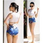 Set: Printed Bikini + Slit Maxi Skirt 1596