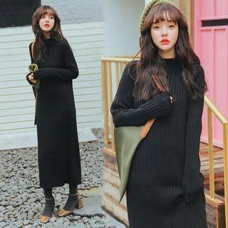 Midi Rib Knit Dress 1063078246
