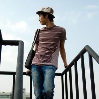 Picture of Belivus Stripe Tee Shirt 1022832472 (Belivus, Mens Tees, South Korea)