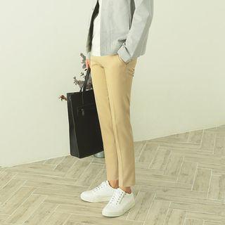 Colored Slim-Fit Dress Pants