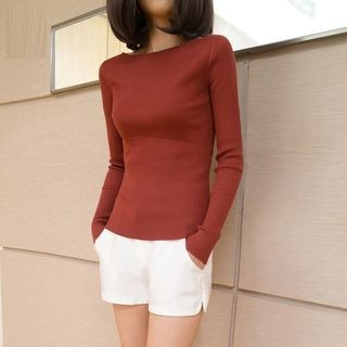 Boatneck Knit Top 1057167245