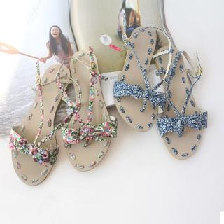 Picture of CLICK Floral Print Sandals 1022871222 (Sandals, CLICK Shoes, Korea Shoes, Womens Shoes, Womens Sandals)