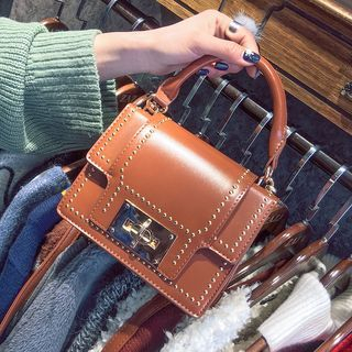 Studded Boxy Tote with Shoulder Strap 1057362400