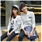 Lettering Striped Matching Couple Zip Jacket от YesStyle.com INT