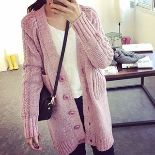 Ribbed Long Cardigan 1050141739