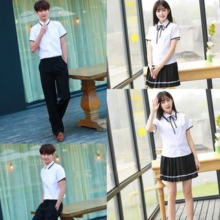 Couple Matching Student Cosplay Costume Set 1063612401