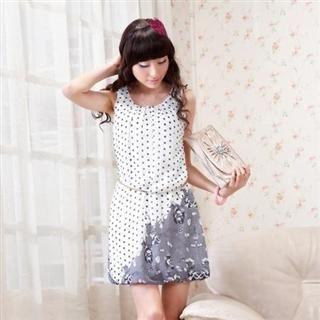 Buy MARLOCA Polka Dotted Floral Print Dress 1022392946