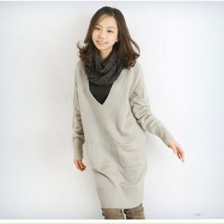 Buy CLICK V-Neck Sweater Dress 1021582909