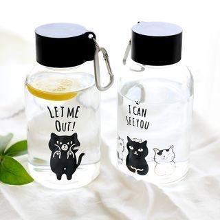 Animal Printed Glass Water Bottle 1060868468