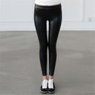 Fleece-Lined Faux-Leather Leggings 1596