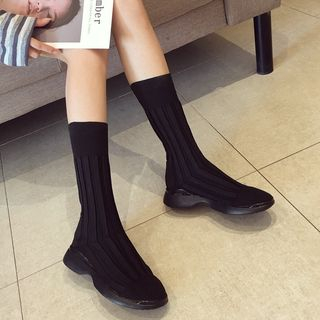 Image of Knitted Mid-Calf Boots