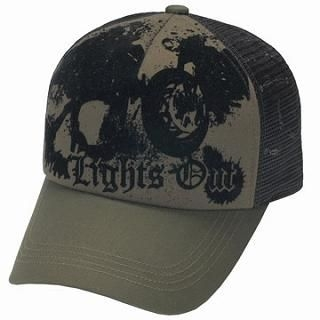 Picture of GRACE Gothic Print Trucker Hat Khaki - One Size 1022173541 (GRACE, Mens Hats & Scarves, Japan)