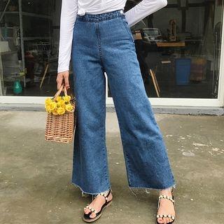 High Waist Wide Leg Jeans 1060908492