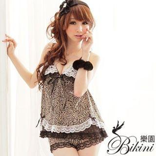 Buy BiKiNi Wonderland Leopard Print Top + Pants (Pajama set) Leopard-Print – One Size 1022906649