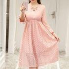 Maternity Long-Sleeve A-Line Lace Dress 1596