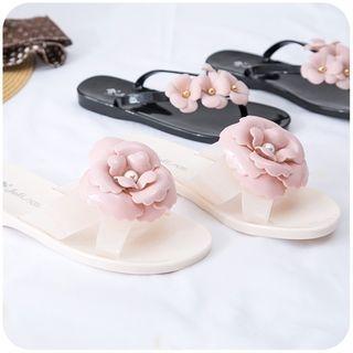 Flower Accent Flip-Flops 1061016219
