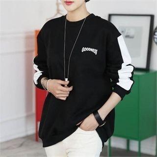 Color-Block Lettering Sweatshirt 1056144979